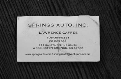 Lawrence business card