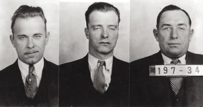 John Dillinger, Harry Pierpont and Charles Makley