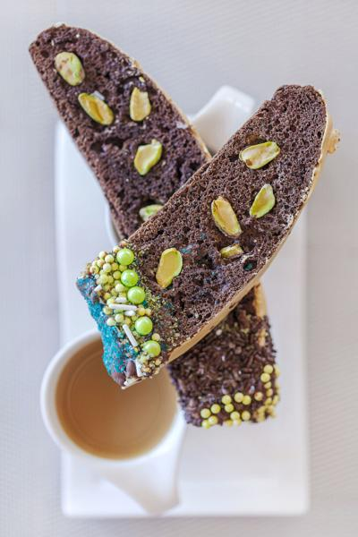 Chocolate Biscotti with Sprinkles