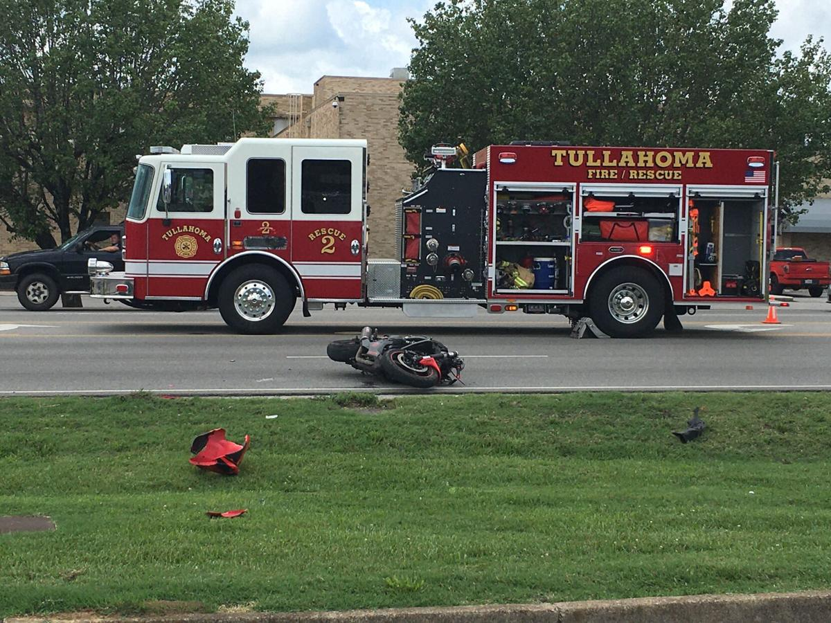 Wreck motorcycle on North Jackson