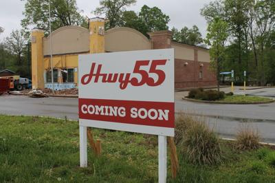 Hwy 55 Burgers sign