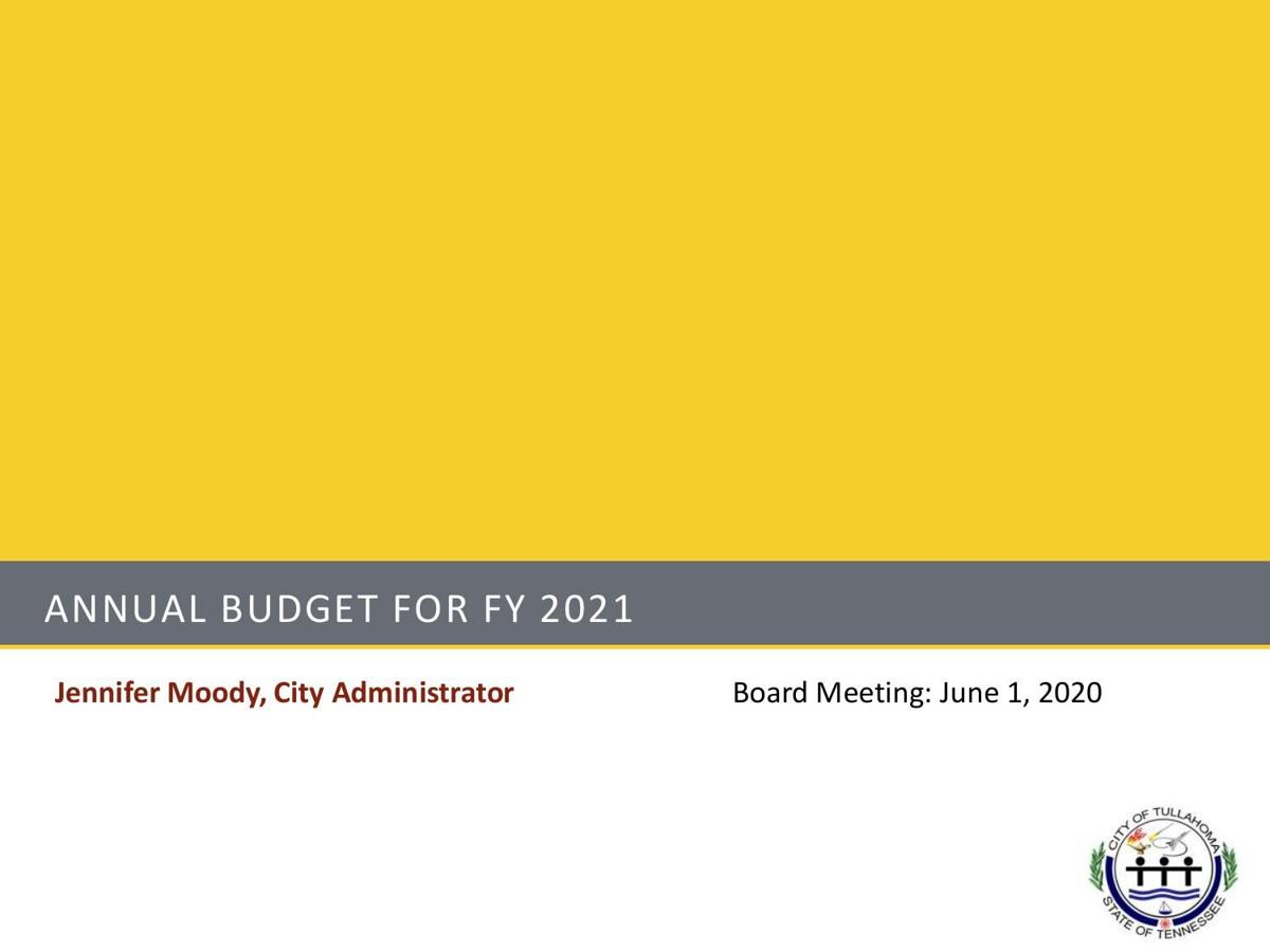 Annual Budget Presentation for FY21