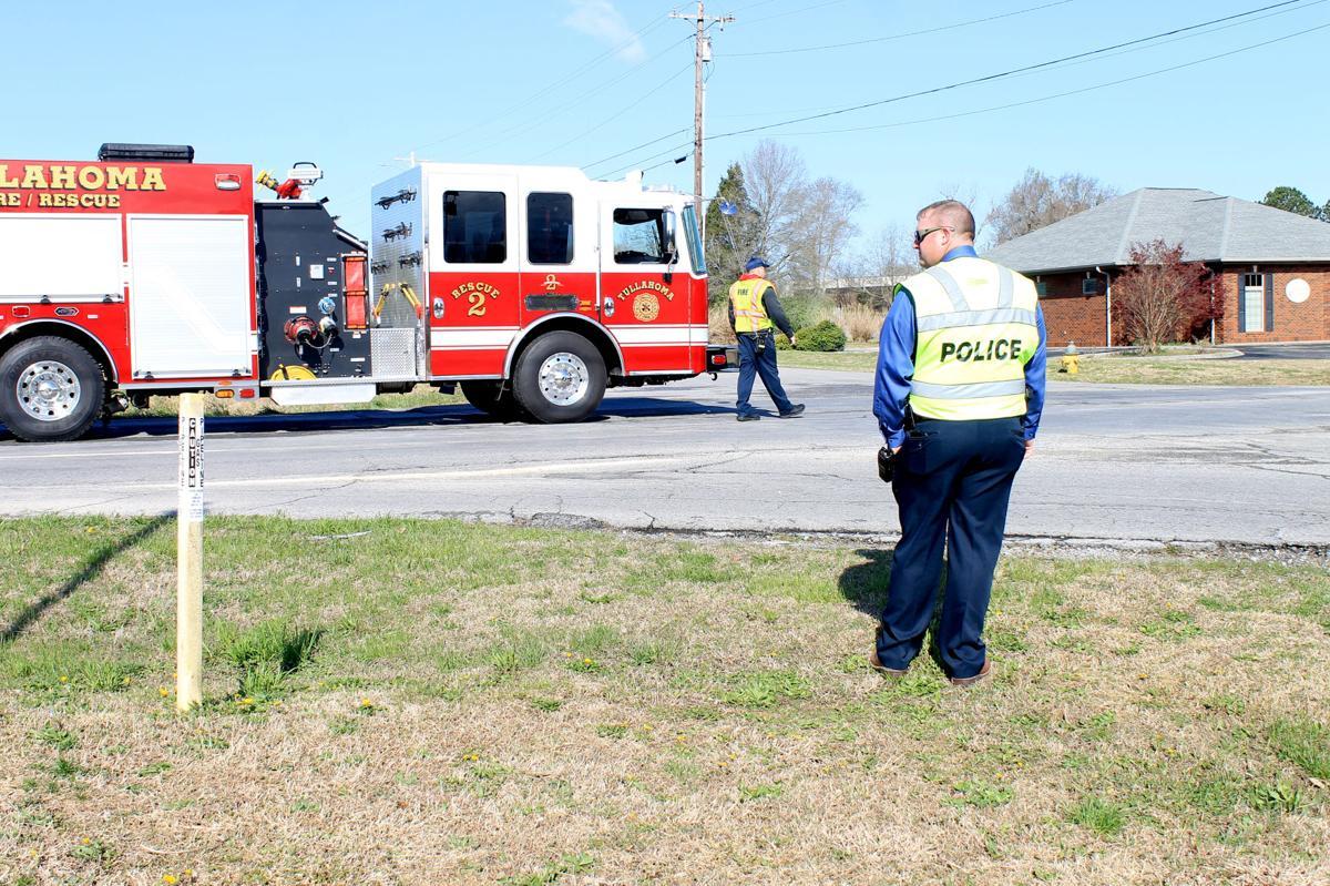 Fire truck fuel spill