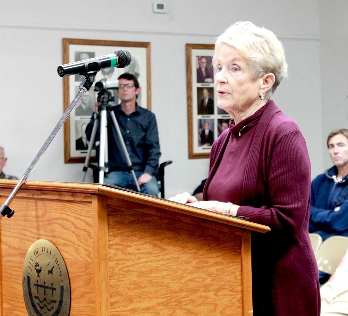 Sandy Sebren at Podium