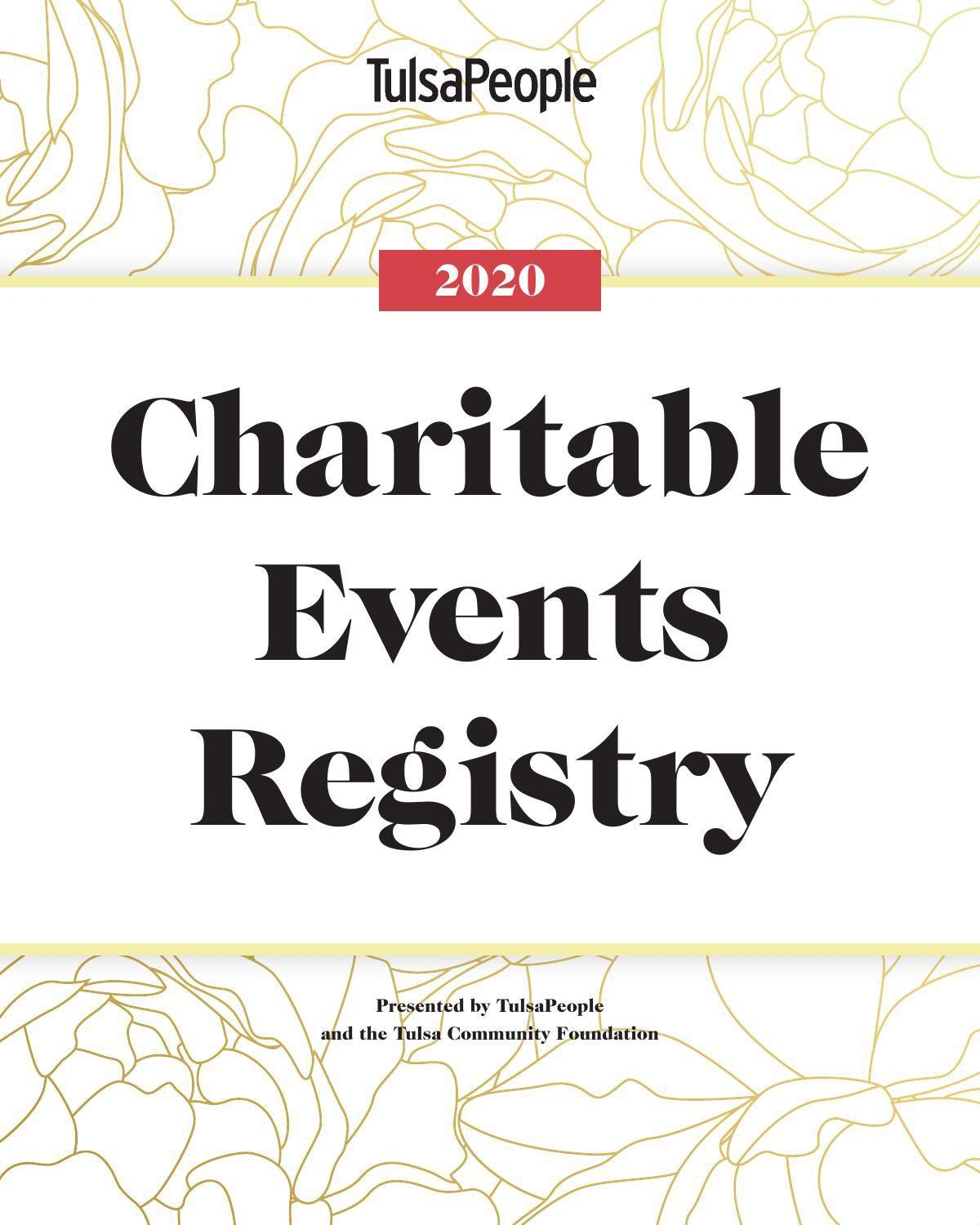 Charitable events registry