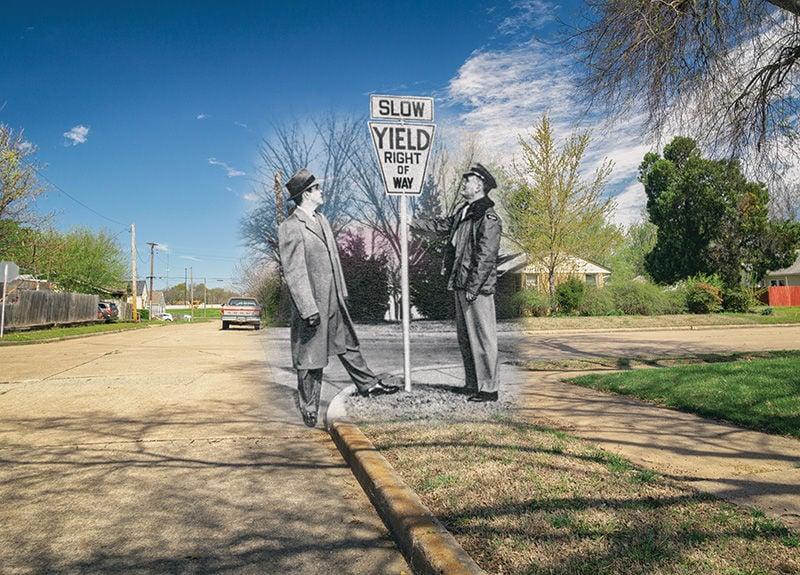 Tulsa Time Warp Yield Sign