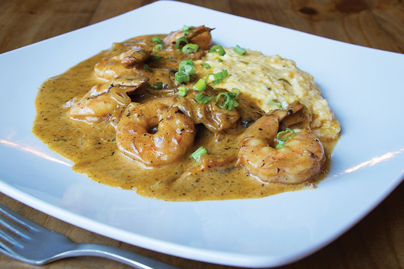 Shrimp and grits at The Local Bison