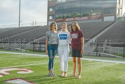 Tylar Trimble-Isenberg, Tori Trimble and Courtney Trimble