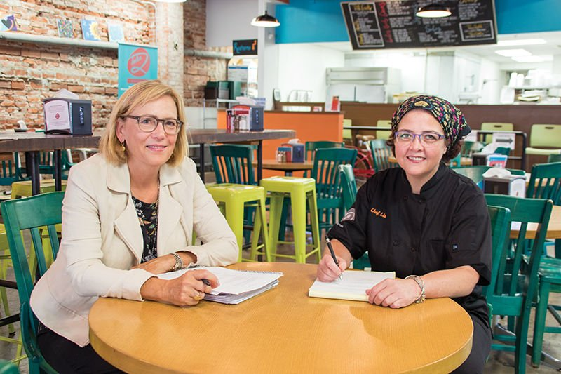 Deidra Kirtley and Chef Lia Lewis