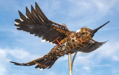 scissor-tail sculpture Jan 2021