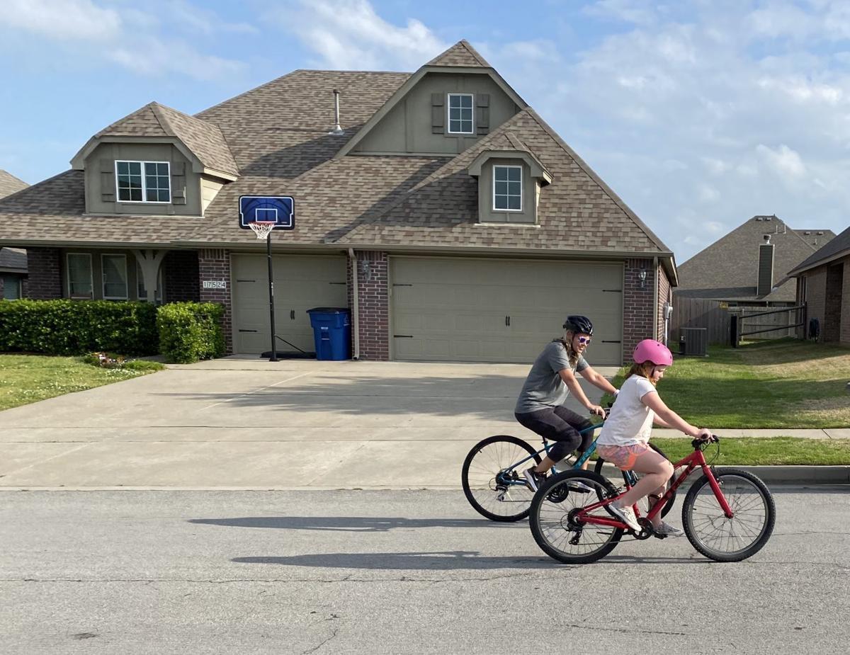 Lisa Read bicycling