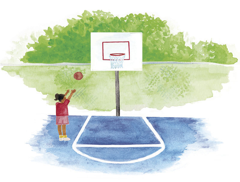 Firm Foundation illustration basketball