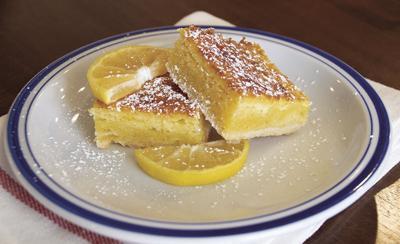 Springtime lemon squares