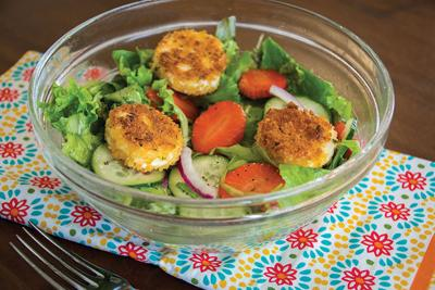 Springtime Salad with Goat Cheese Croutons