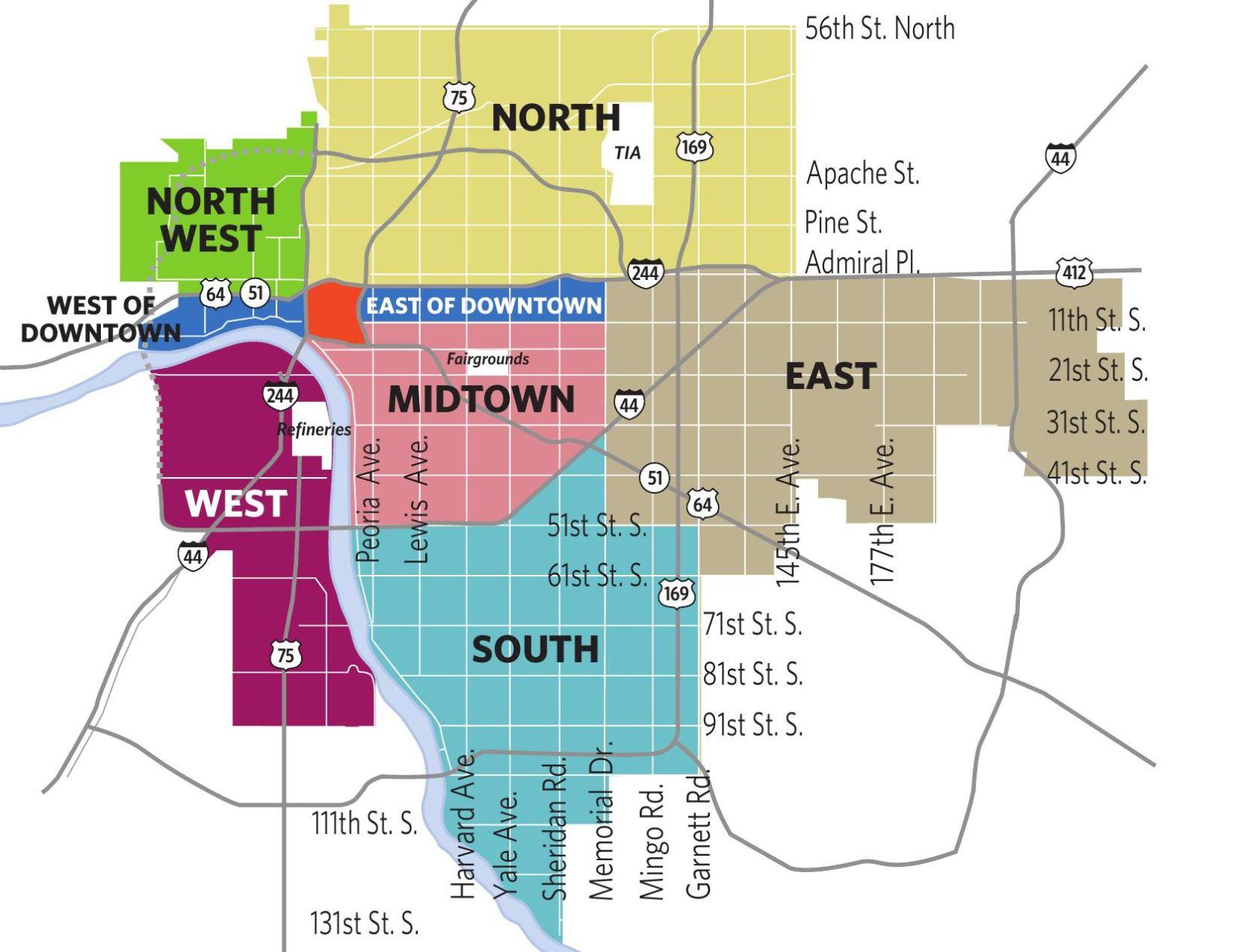 Tulsa Map tulsaworldcom