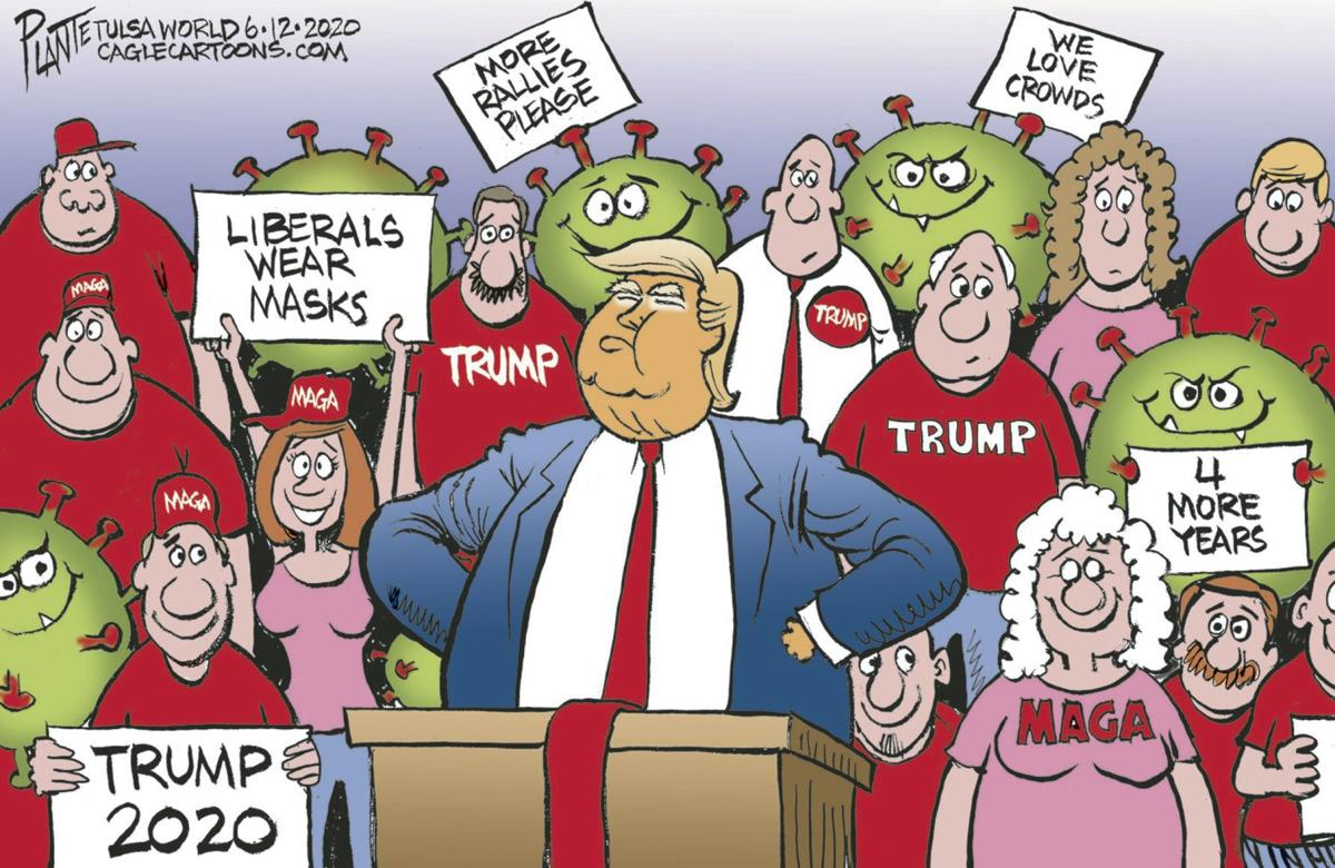 Bruce Plante Cartoon Trump S Crowd Columnists Tulsaworld Com