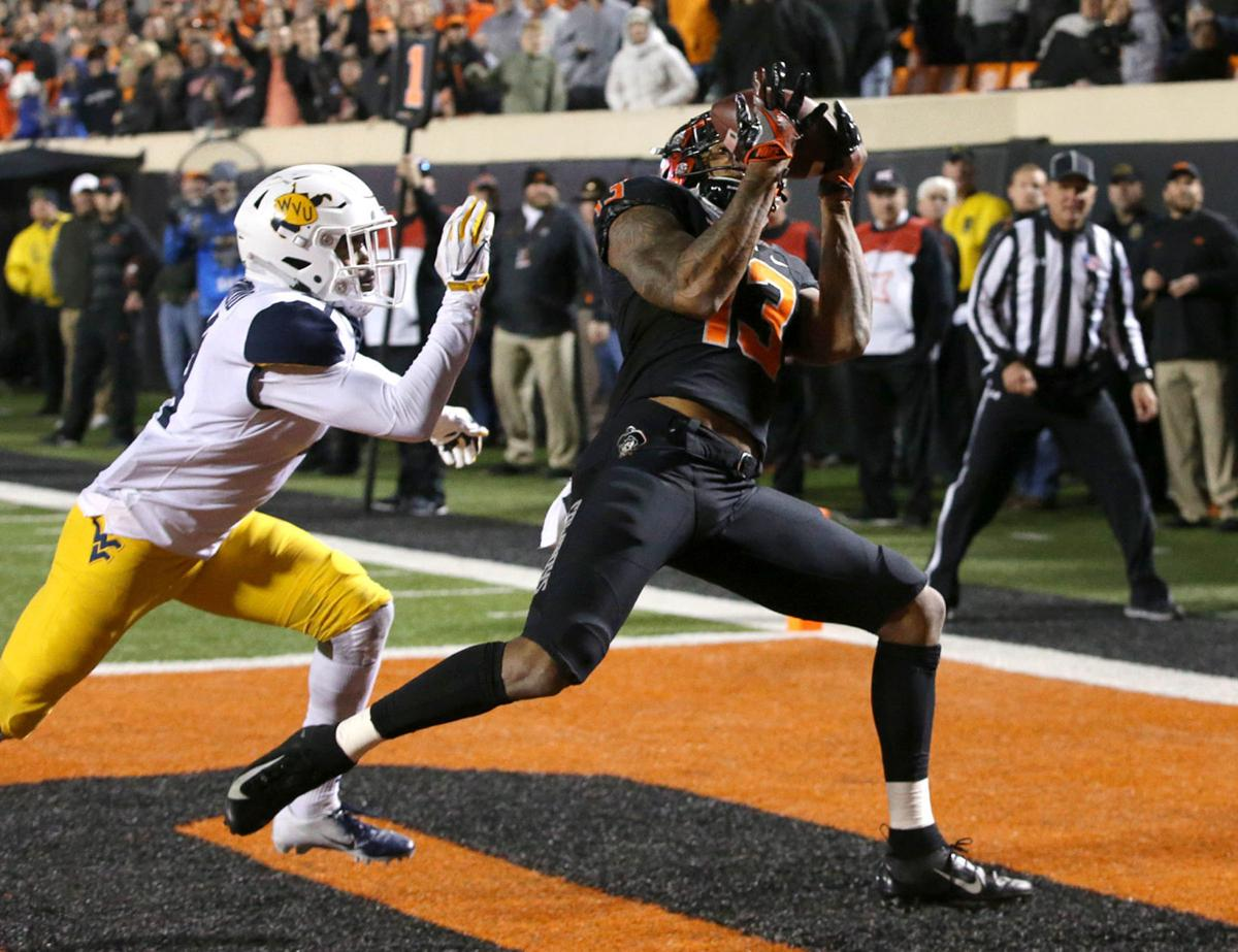 No. 9 West Virginia at Oklahoma State four downs ...