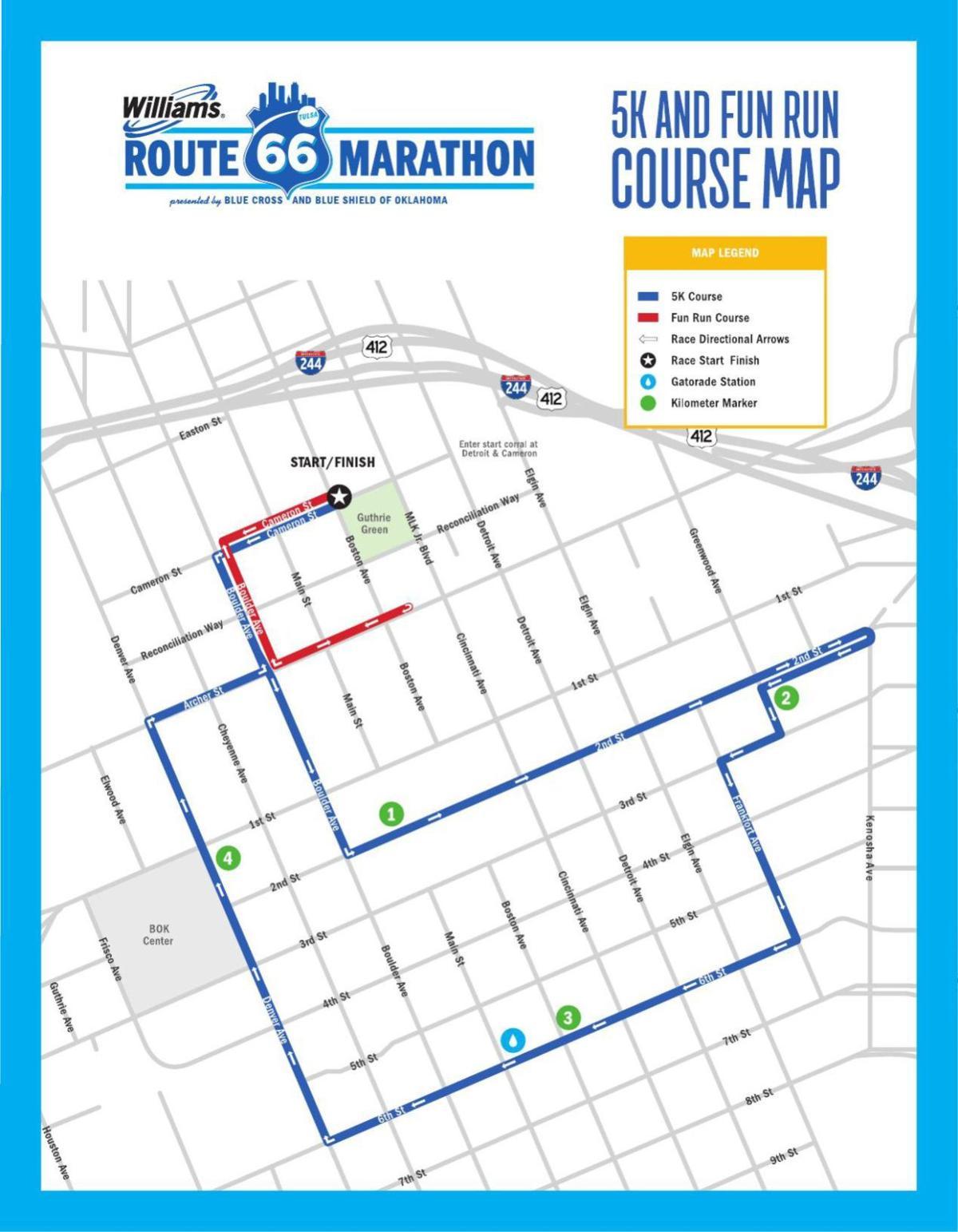 5K and Fun Run Course Map