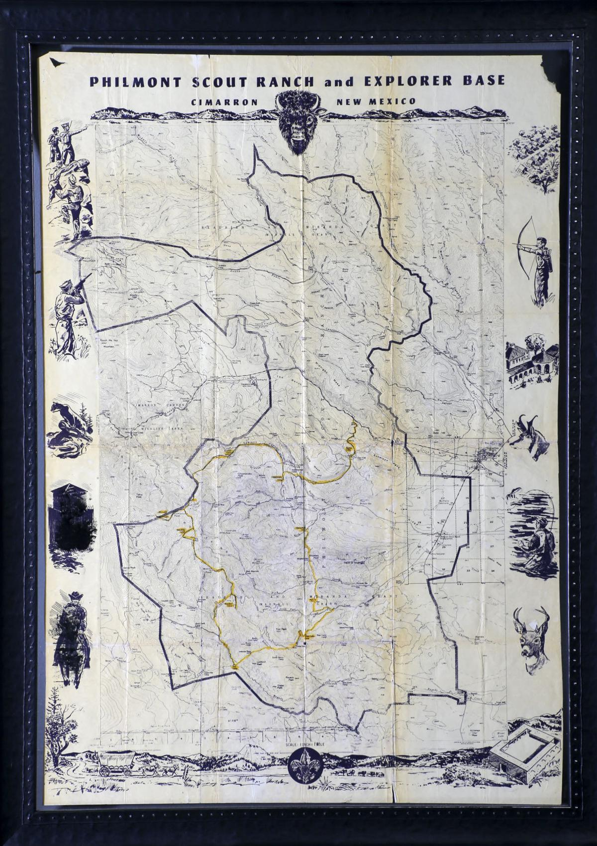 Philmont New Mexico Map.John Klein 50 Year Old Journal From Philmont Scout Ranch A Reminder