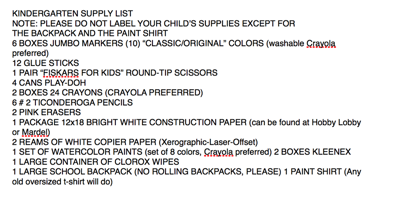 Because I Said So: Uniforms, homework, school supplies and more from