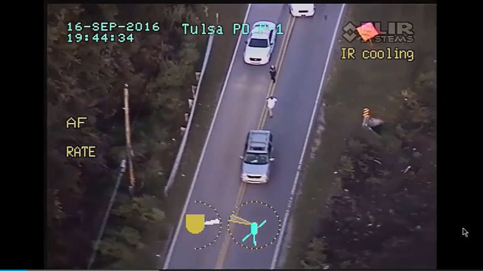 Terence Crutcher helicopter video screengrab