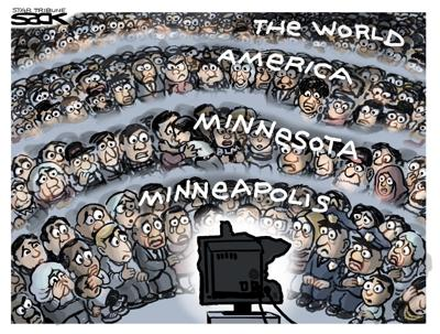 Cartoon: The Whole World is Watching by Steve Sack