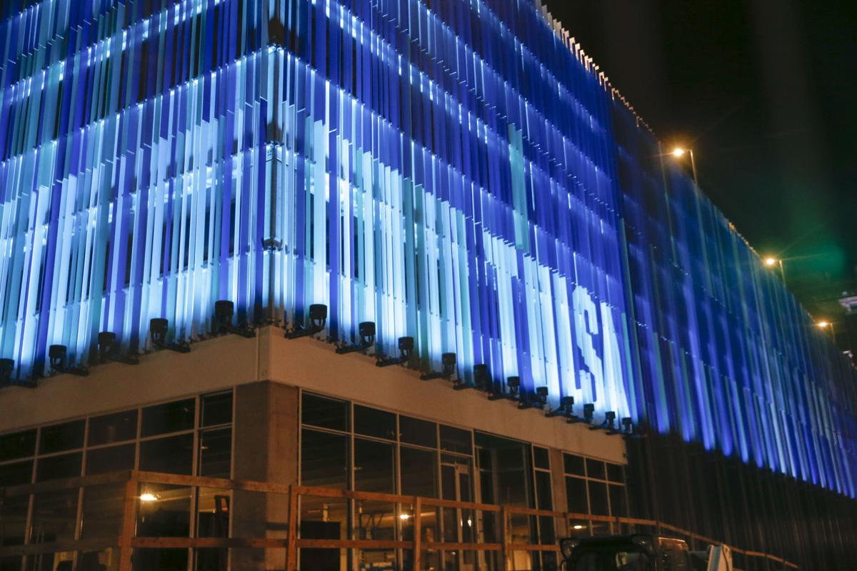 Price Family Properties Downtown Parking Garage Lights Up