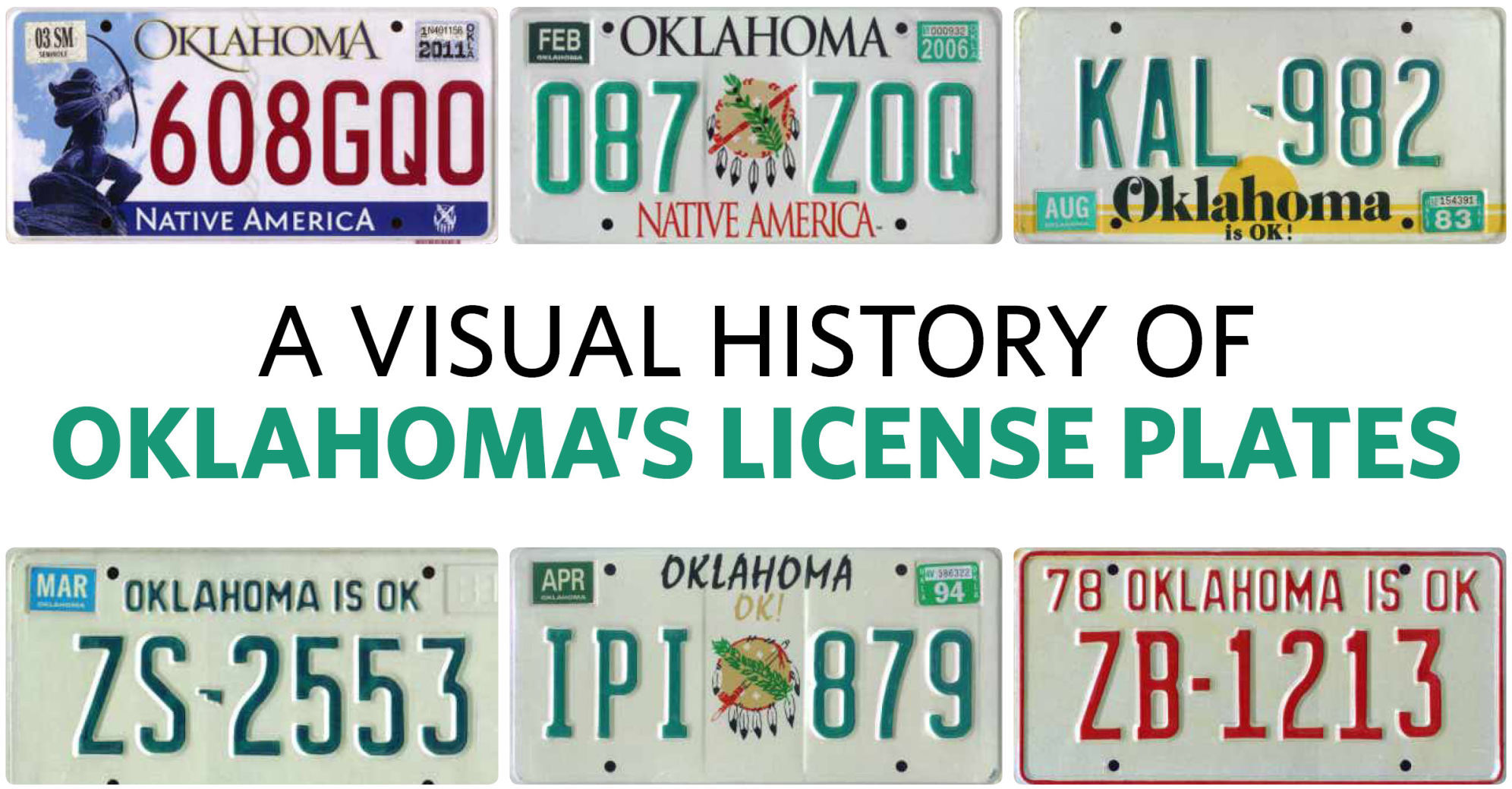 OKLAHOMA NATIVE METAL LICENSE PLATE TAG FOR CARS OKLAHOMA STATE LICENSE PLATE