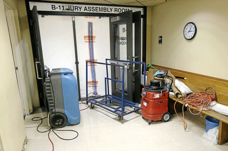 courthouse basement reopened after flooding jury trials resume rh tulsaworld com