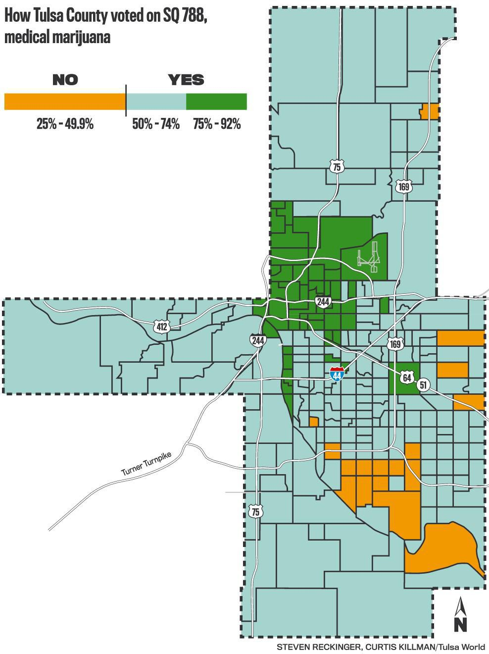 Medical marijuana map of Tulsa County: See where State Question 788 ...