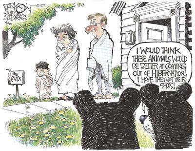Cartoon: Leaving COVID Hibernation by John Darkow