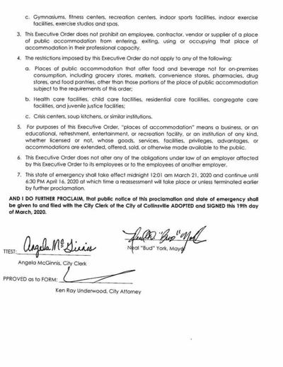 Collinsville proclamation 2