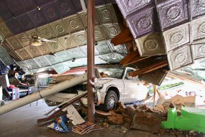 Collinsville family recovering after car crashes into café