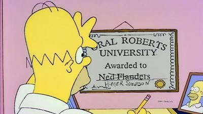 The Simpsons ORU Diploma