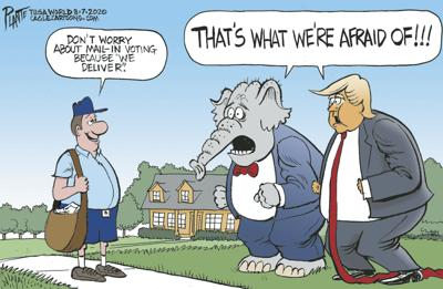 Bruce Plante Cartoon: Mailing-it-in