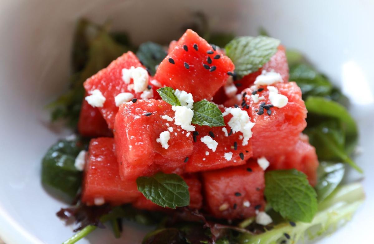 Prairie Brewpub watermelon salad