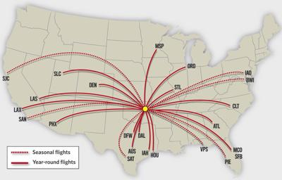 2019 nonstop flights_map