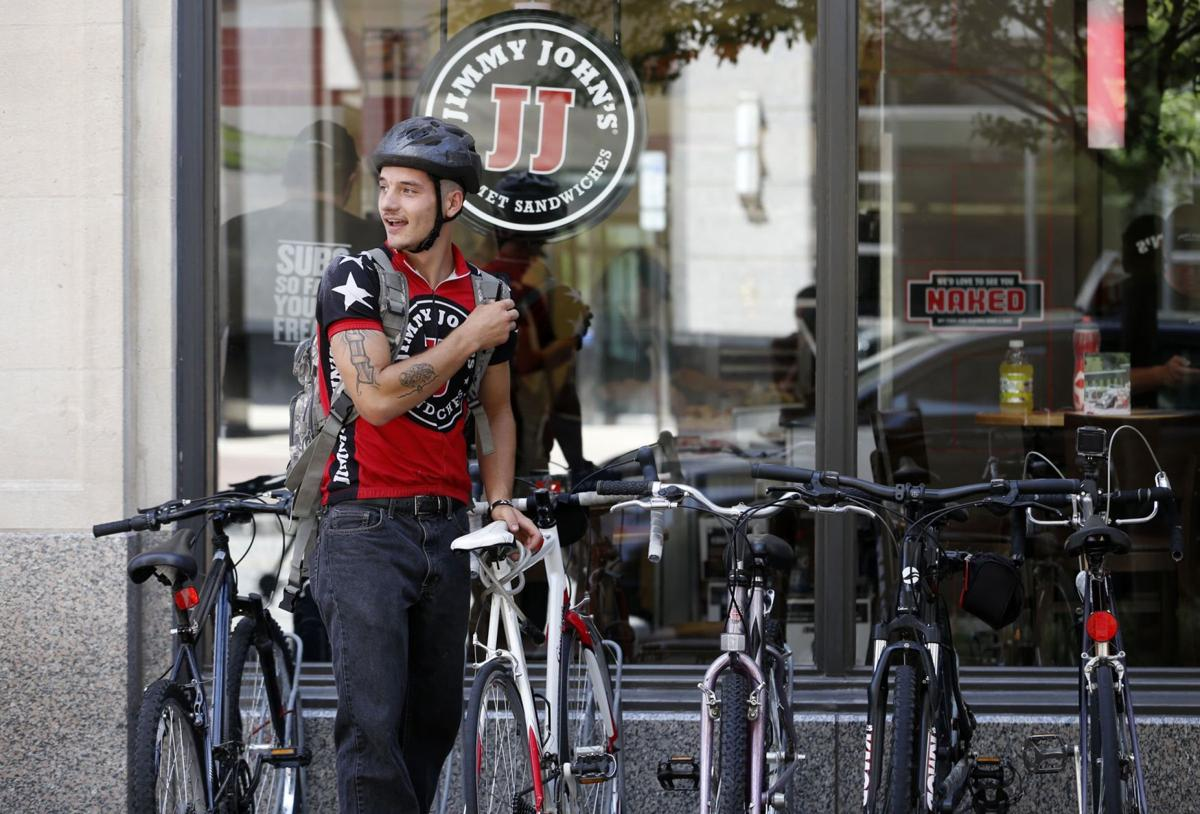 u0026 39 freaky fast u0026 39   jimmy john u0026 39 s bike drivers meet challenge of