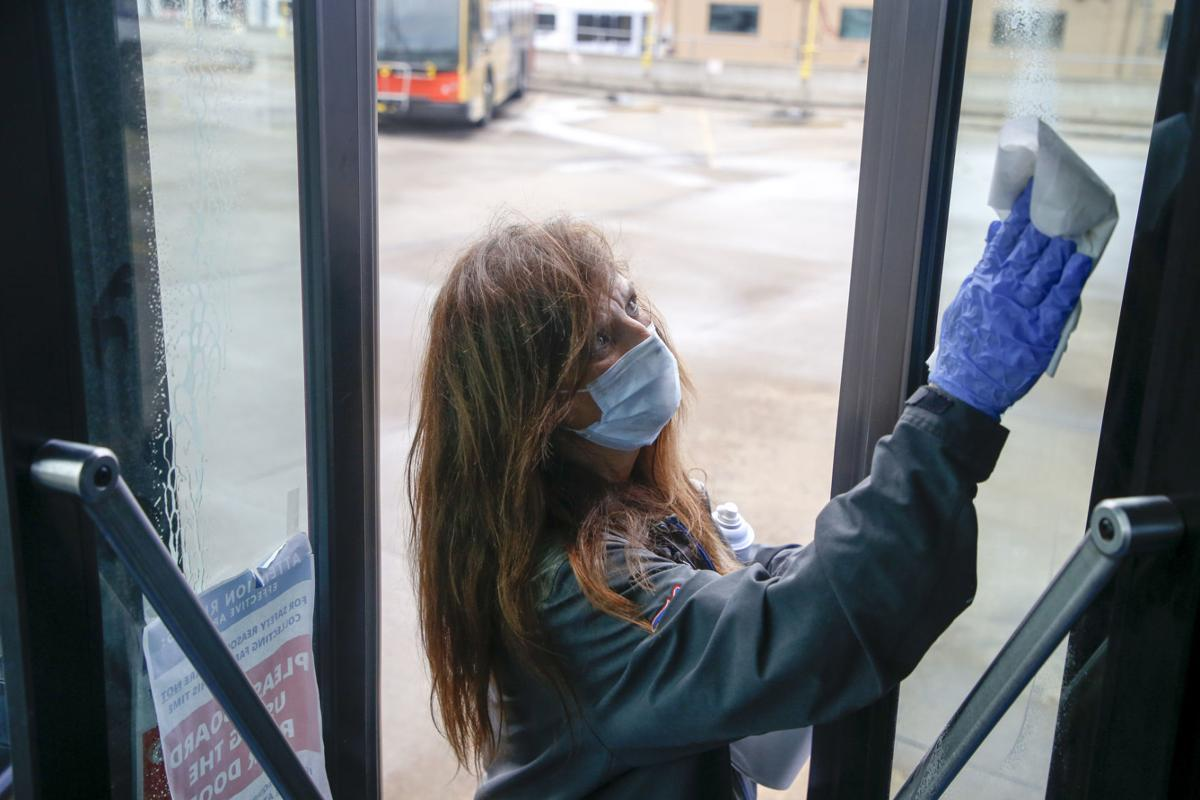 COVID-19 Bus Cleaning