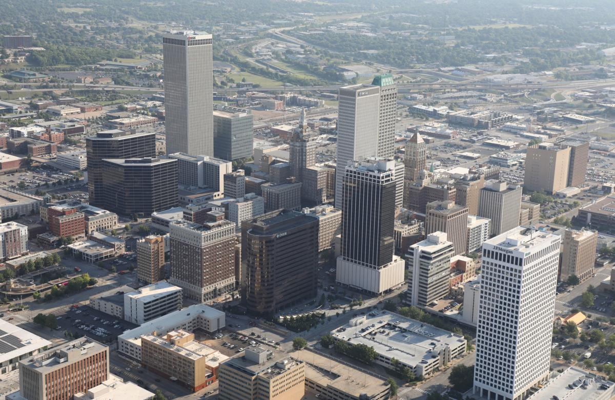 Aerial downtown