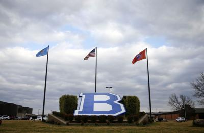 Bixby schools with flags