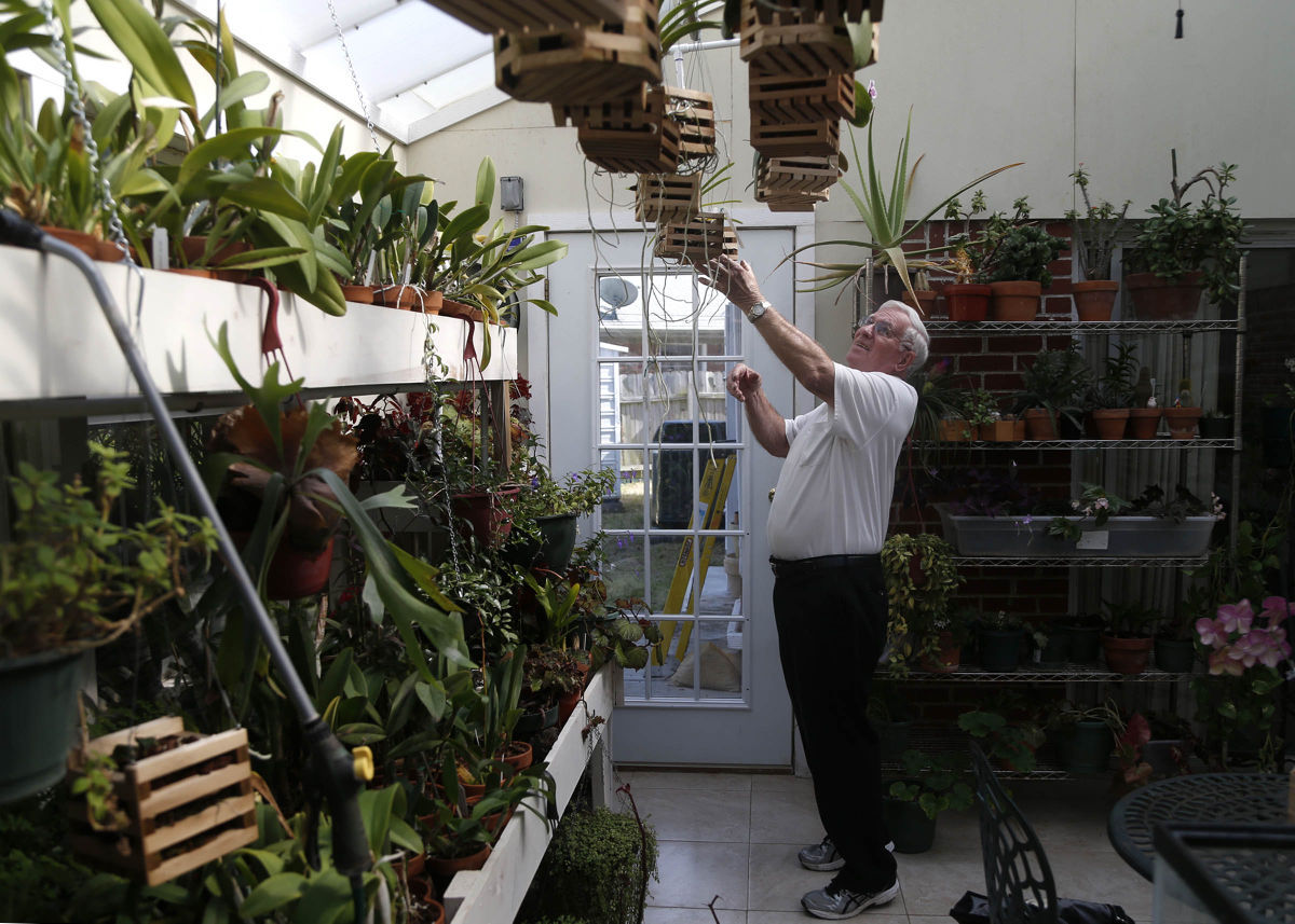 Retired engineer makes handmade baskets for orchids