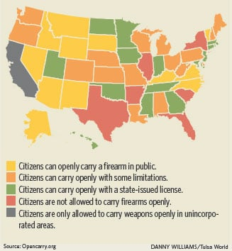 Open Carry Law Goes Into Effect Nov 1 Crime Courts Tulsaworld Com