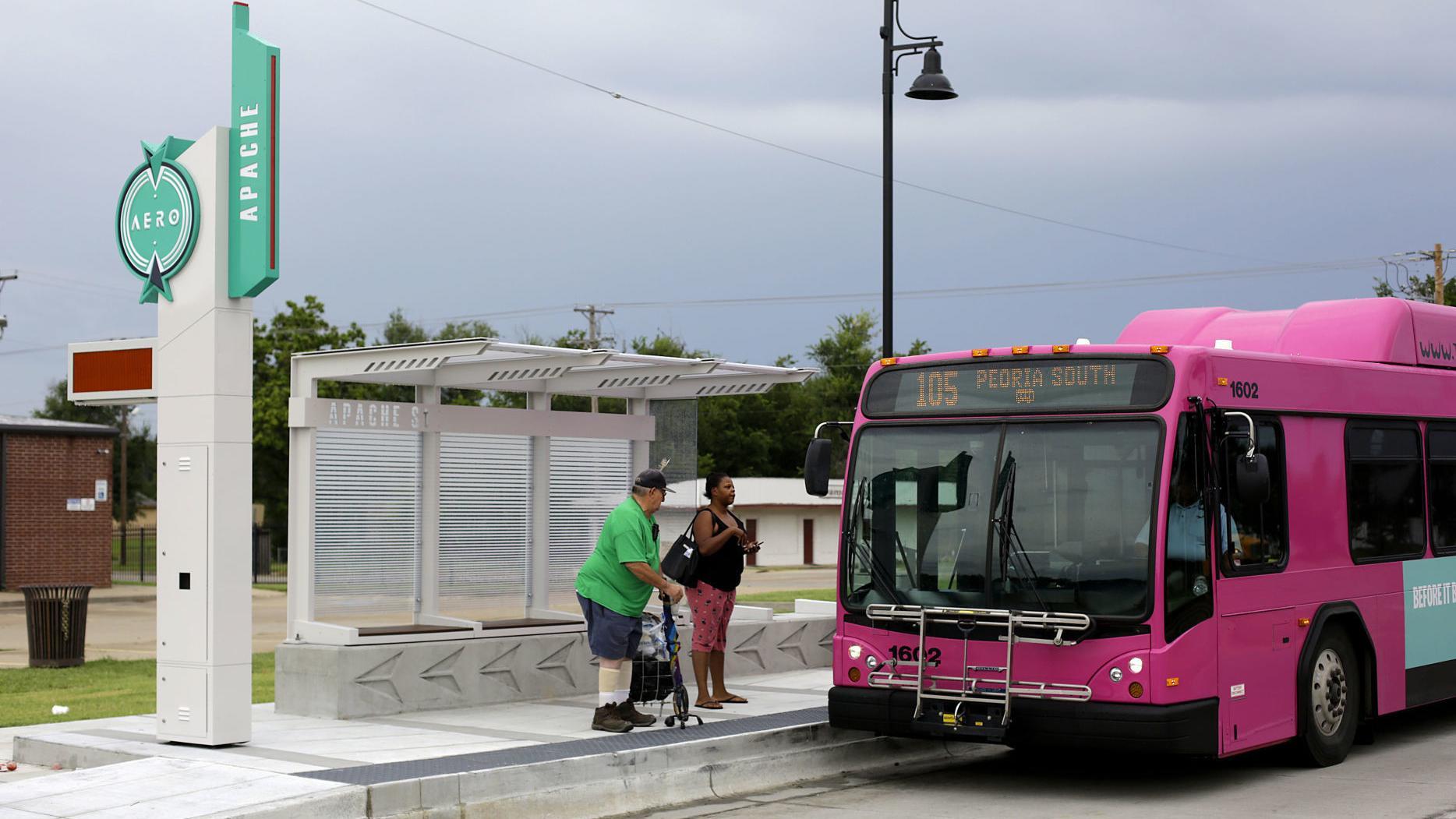 Tulsa S Bus Rapid Transit Service Along Peoria Avenue Begins Sunday Latest Headlines Tulsaworld Com