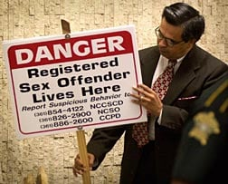 Sexual offender yard signs