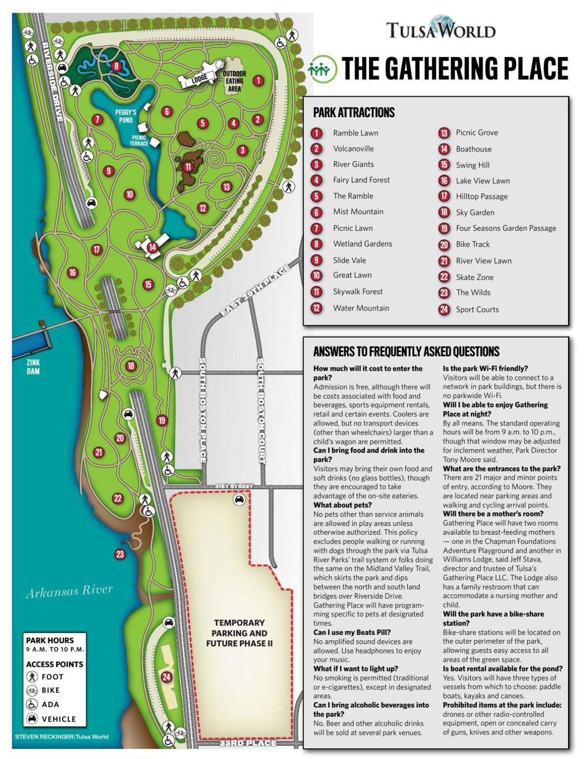 Download a Gathering Place map | Gathering Place | tulsaworld.com on