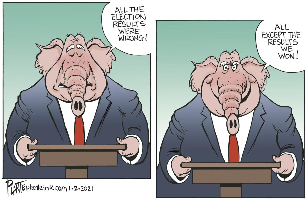 Syndicated Cartoon: Bogus Election? by Bruce Plante