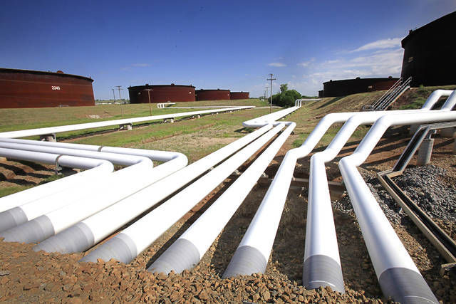 Oil tanks and pipelines Oklahoman