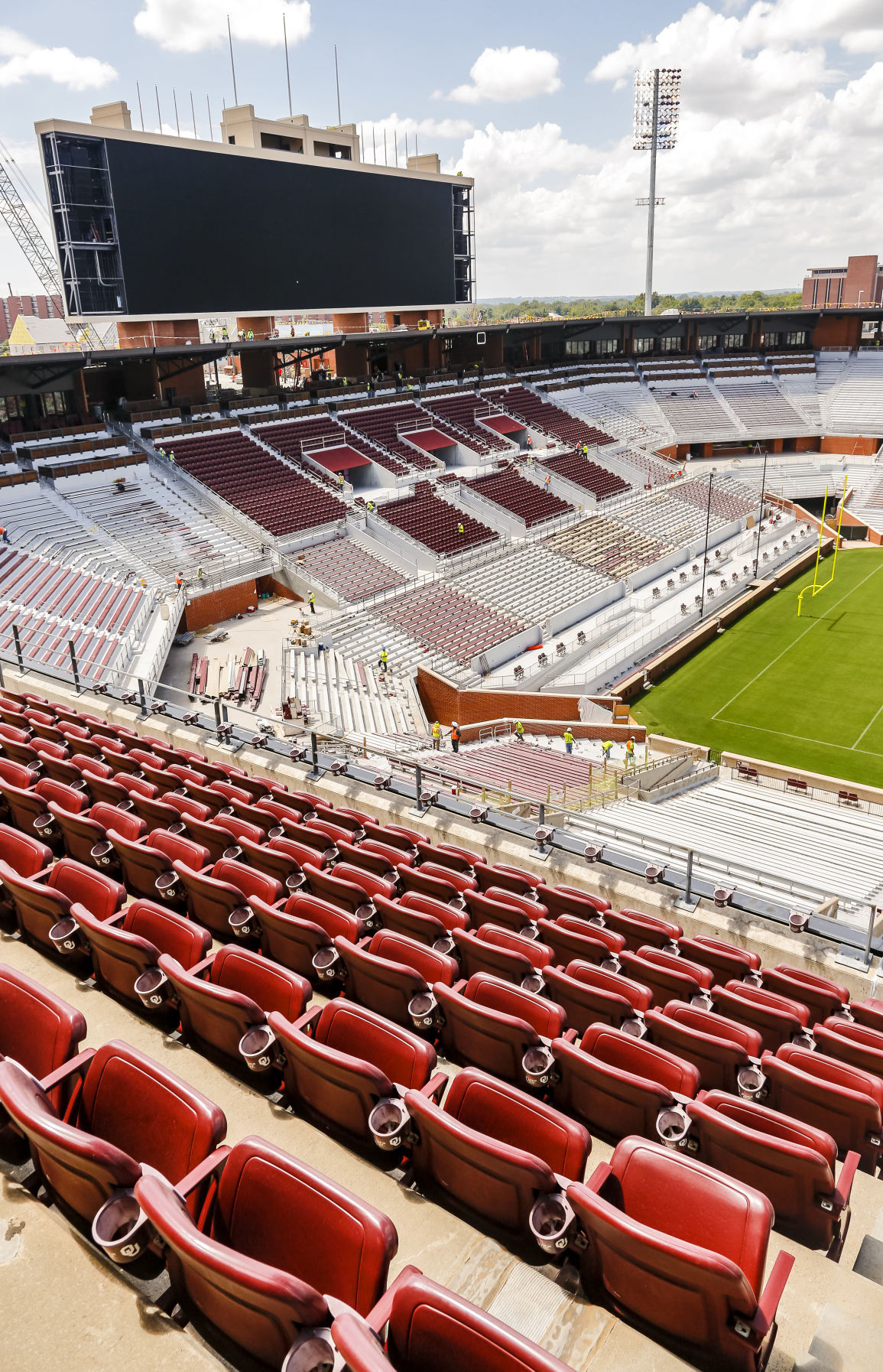 OU student media shares time lapse video of stadium ...