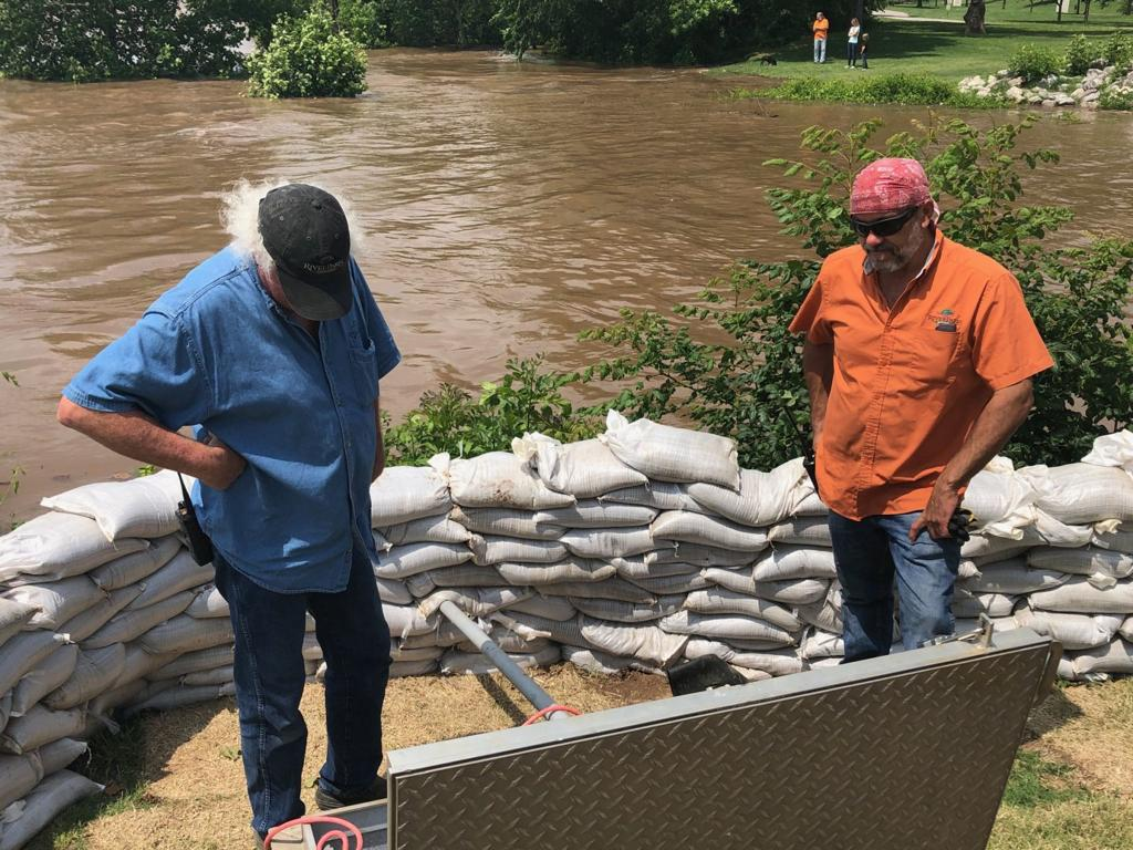 Gallery: Aerial views of flooding Wednesday along the Arkansas River